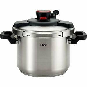 T-FAL Calipso Stainless Steel Pressure Cooker 6.3-Quart