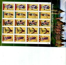 AMERICAN INDIAN DANCE SCOTT #3072 .32 STAMP SHEET OF 20