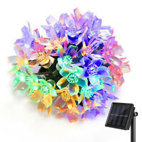 7M 50LED Multicolor Solar Powered Fairy String Light Outdoor Garden Lamp New