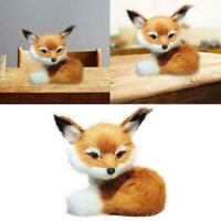 Simulation Sitting Fox Stuffed Animal Soft Plush Kids Gifts Decor Toys U9F7