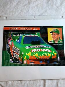 Tommy Johnson Racing Interstate Batteries Firebird Signed NHRA Photo 6 X 9 N 76