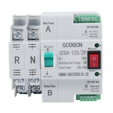 Dual Power Automatic Transfer Switch 2p 100a Household 35mm Rail H6g3