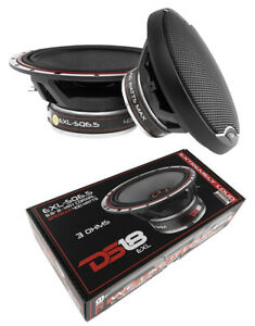 """DS18 EXL 6.5"""" 2 way Coaxial Door Speakers 800 Watt Fiber Glass Cone 3 Ohm 1 Pair"""