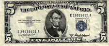 A 1953-A $5.00 United States Silver Certificate - FR# 1656 - ERROR NOTE - VF/XF+