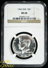 1966 SMS Kennedy 50c NGC MS 68 GEM Philadelphia Special Mint Set Coin Beautiful