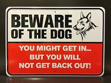 BEWARE OF THE DOG ! Warning Caution Security Tin Sign