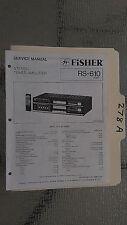 Fisher rs-610 service manual original repair book stereo receiver tuner radio