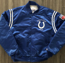 Vintage Starter NFL Indianapolis Colts Satin Jacket Size XL Blue Made in USA