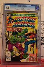 Captain America #257 CGC 9.6 Awesome Hulk Cover low population 1:48 few higher