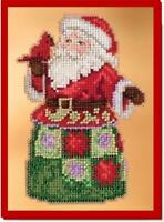 MILL HILL Counted Cross Stitch Kit - JIM SHORE - FESTIVAL FRIENDS SANTA