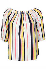 Unbranded Women's Polyester Striped Waist Length Tops & Shirts