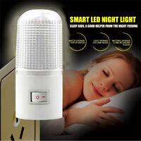 3W 4 LED Night Light Bedside Lamp Wall Mounted US Plug Bedroom Lighting Bulb