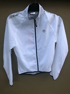 Descente Velom Womens Cycling Jacket - small (S) White - Full Zip & Lightweight