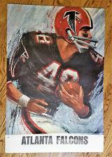 "Vintage DAVE BOSS NFL poster ATLANTA FALCONS #48  24 x 36"""