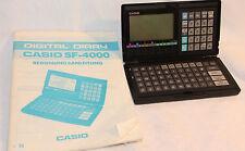 Casio Digital Diary SF-4000 mit Handbuch - alt - Batterien leer - ansehen
