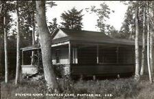 Portage ME Stevens Camp 1950s-60s Real Photo Postcard
