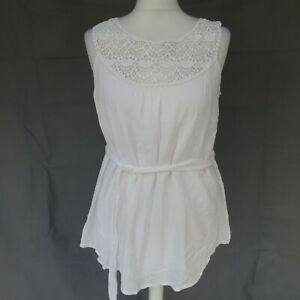 Women's Mamalicious Maternity white blouse top size Small