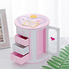 DI- Creative 3 Layer Necklace Jewelry Storage Case Music Box Kids Clockwork Toy