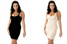Body fit Shape-wear Full Length Control Slip Under Dress Black or Skin  S M L XL
