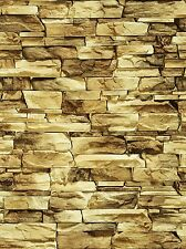 196 X 71 X 1Mm Ho/Oo Scale Large Stone Wall Treated Bumpy Paper Sheets 3D Look
