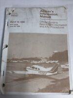 Vintage 1988 Airman's Information Manual: Guide To Basic Flight & ATC Procedures