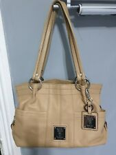 Ladies Beige Leather Tignanello Handbag