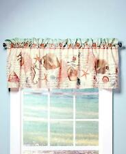 BATHROOM SEASIDE BEACH THEMED WINDOW CURTAIN VALANCE SEA LIFE PATTERN ROD POCKET