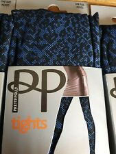 PRETTY POLLY SHEER 10D HOLD UP STOCKINGS ADMIRAL BLUE ONE SIZE RARE VINTAGE!