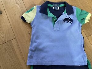 Polo Ralph Lauren Boys Collared Tshirt Age 2/2T Blue