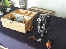 Lasico Transit Vintage Surveying Instrument Oak Case Steam Punk Great Condition