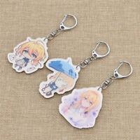 Cartoon Violet Evergarden Keyring Acrylic Charm Keychain Anime Fans Collections