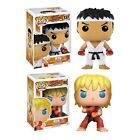 Street Fighter 2 Ryu (White Headband) & Ken (Special Attack) Pop! Vinyl. New. UK