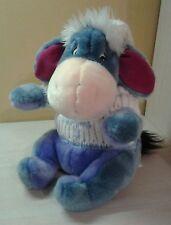 "Disney Winnie the Pooh Plush Eeyore Winter Knit Hat & Sweater 12"" Sitting NWOT"