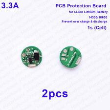 2pcs 3A 3.7v Li-ion Lithium 14500 18650 Battery 4.2v Charge Protection Board PCB