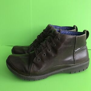 Clarks goretex brown leather lace up ankle boots size 7