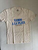 Marky G Men's Fine Jersey Short Sleeve V-neck T-shirt Vamos A La Playa NEW NWT M