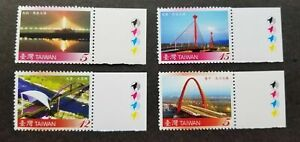[SJ] Bridges Of Taiwan Taiwan 2008 Building Architecture (stamp color) MNH