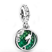 925 Sterling Silver Charm Ariel Hanging Dangle Charm Fit European Bracelet