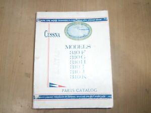 CESSNA AIRCRAFT MODELS 310F 310G 310H 310I 310J 310K FACTORY PARTS CATALOGUE