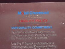 Vintage Mobil Chemical Plastic Packaging Division Employee Quality Policy Sign