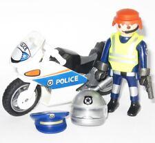 Playmobil® Polizei Highway POLICE MOTORRAD 9774 FAHRER Figur m. ZUBEHÖR
