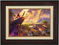 Thomas Kinkade Lion King 18 x 27 Limited Edition Canvas G/P (Burl Frame)