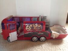 "RARE Bratz Rock Angelz Red Tour Bus Red Huge 25"" Swimming Pool Lights Radio Horn"