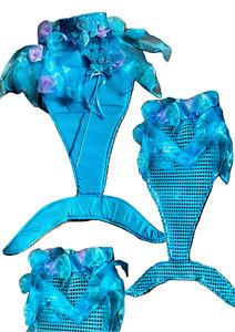 Girls Mermaid Tail Girls Mermaid Costume Dress up Set Mermaid costumes