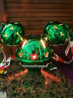 Disney Parks 2020 Christmas Mickey Jingle Bell Green Light-Up Sipper Cup New