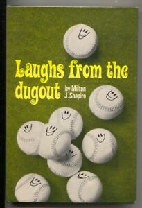 Laughs From The Dugout 1966-Milton J Shapiro-1st edition w/dust jacket-baseba...