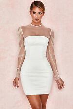 HOUSE OF CB 'Nikola' Ivory Crystal Dress XS 6 / 8 SS 20539