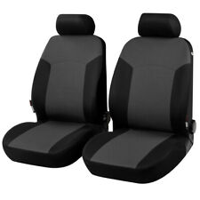 WALSER Portland Front Car Seat Covers Protectors Protective Black Grey Airbag