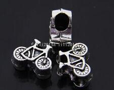 NOUVEAU 1 X Tibetan Silver Charm Vélo Bead Fits Bracelet fr09