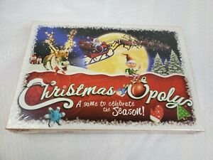 Christmas-Opoly Board Game Monopoly Themed Game -2-6 Players ages 8 & Up- Sealed